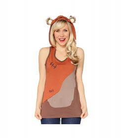 Ewok Ladies Hooded Tank Top